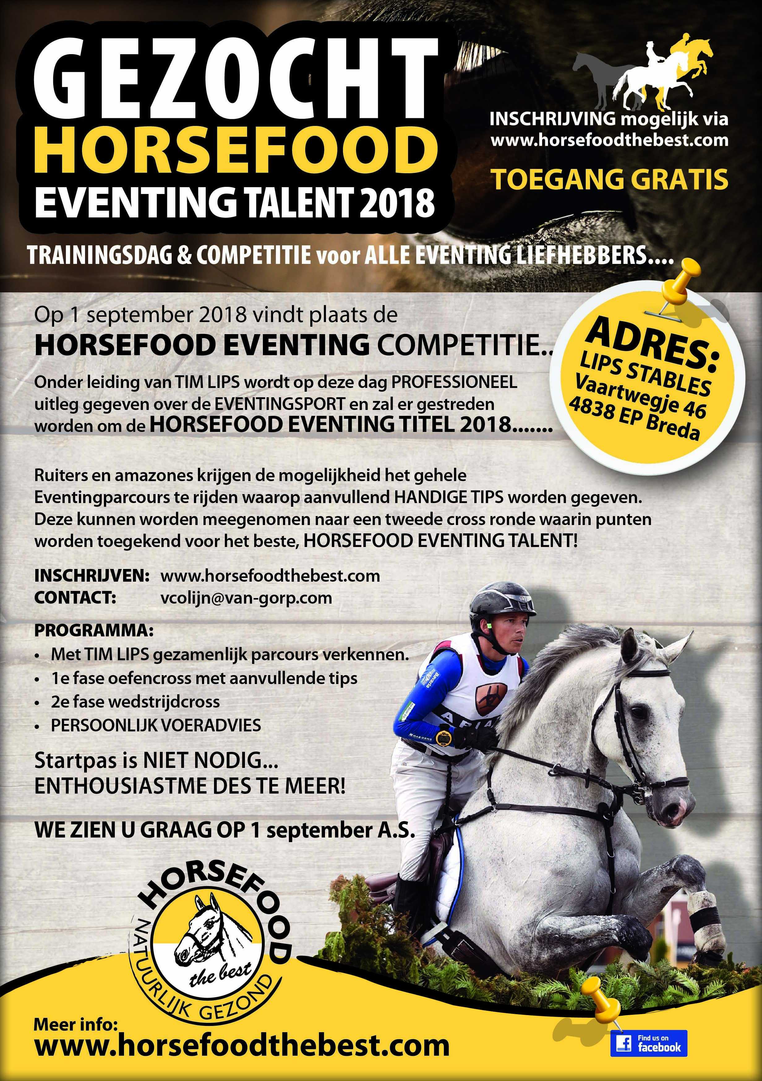 2018 Horsefood Eventing Talent